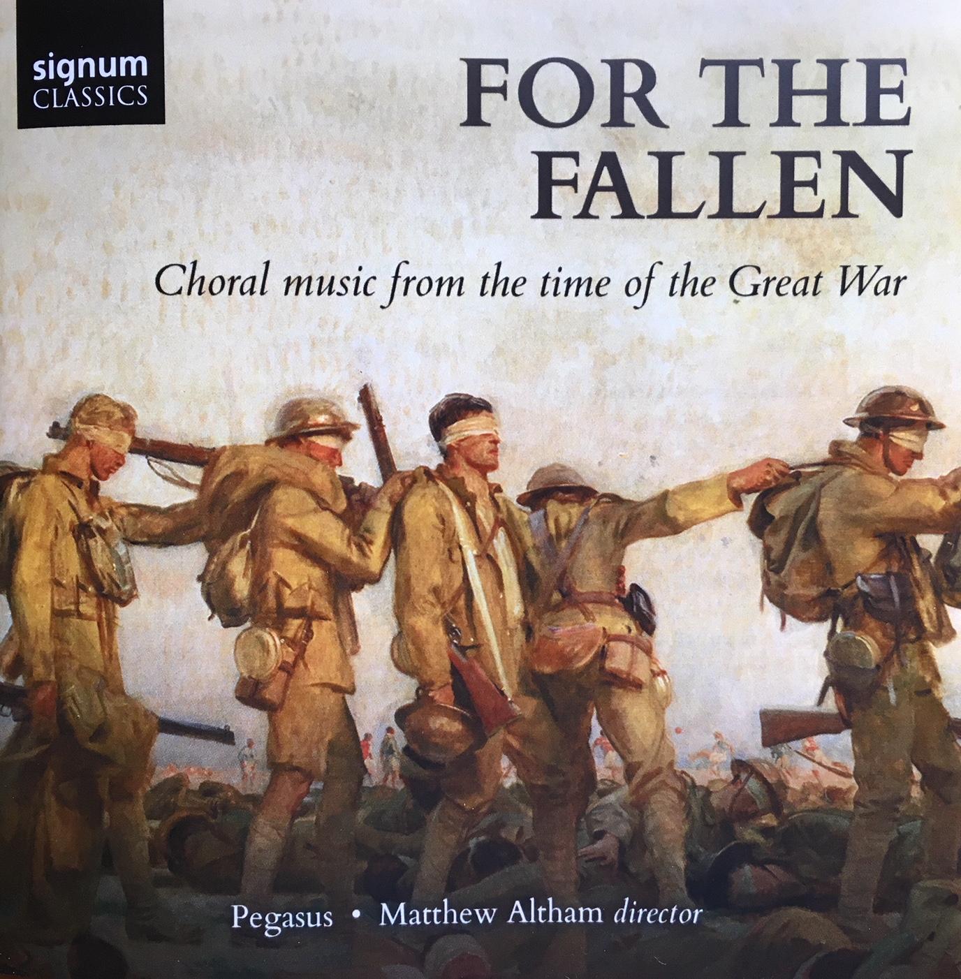 Pegasus's new CD: For the Fallen | Pegasus Choir